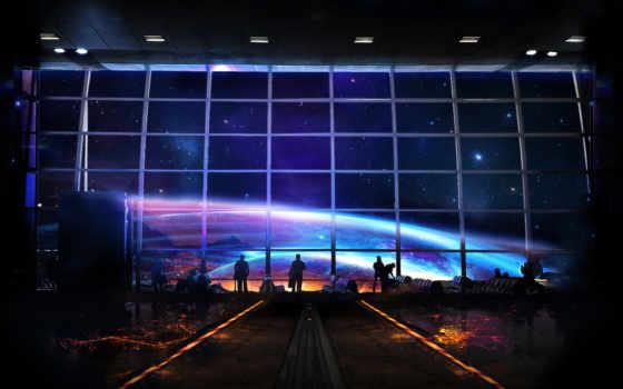 космос, станция, fantasy