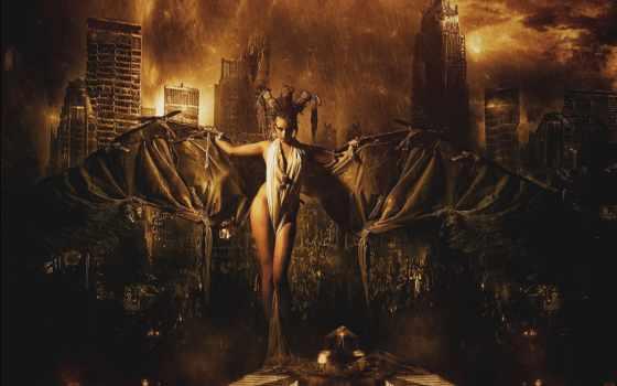 девушка, wallpapermaniac, digital, обстановка, fantasy, desktop, город,