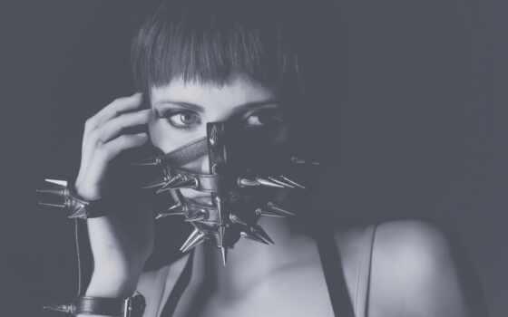monochrome, женщина, глаза, маска, модель, art