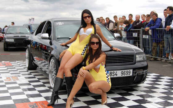 девушки, авто, автомобили Фон № 53739 разрешение 1920x1200