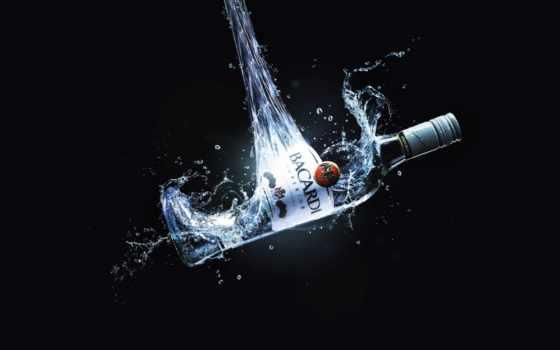 алкоголь, бутылка, алкоголя, рома, бренд, whiskey, использование, чрезмерное, bacardi,