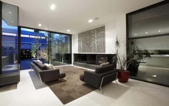 interiores, casa, salas