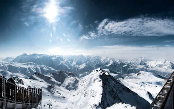 бесплатные, природа, горы, рисунки, авориаз, альп, заставки, качественные, снег, широкоформатные, huez,