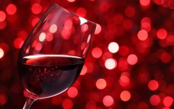 вино, красное, glass, боке, цветы,