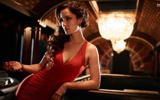 платье, платья, красном, мужчины, she, женщина, девушка, красные, макияж,