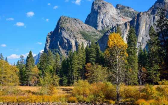 yosemite, park, national, долина, природа, осень, desktop,