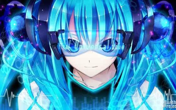 vocaloid, anime, miku, devushki, hatsune, музыка,