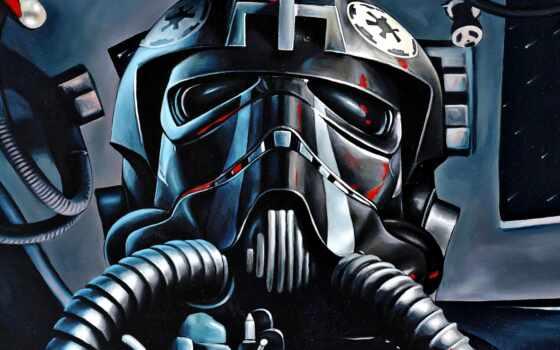 star, war, tie, пилот, истребитель, арта, звёздный, война, красивый, nazad