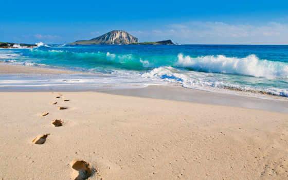 ocean, пляж, тихий