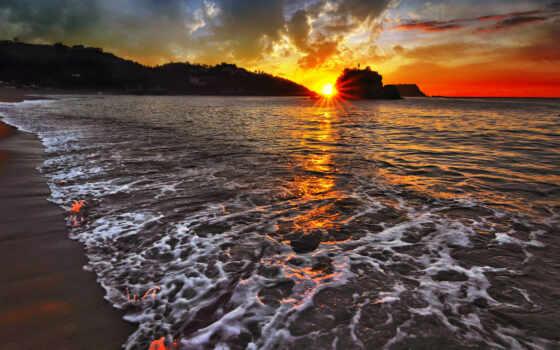 закат, море, небо Фон № 79408 разрешение 1920x1200