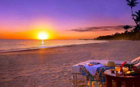 море, пляж, закат, небо, природа, starve, лет, summer, отдых, landscape, песок