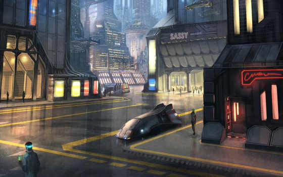город, sci, futuristic