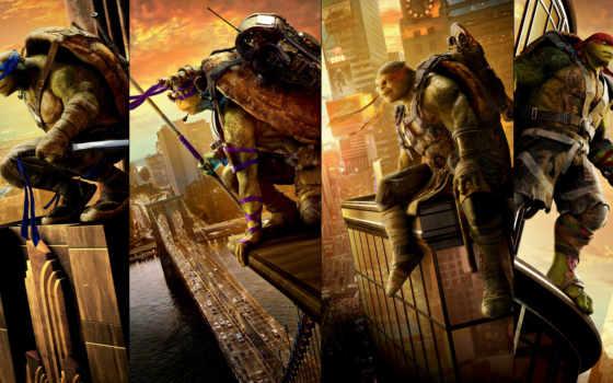 turtles, ninja, mutant, teenage, out, shadows,