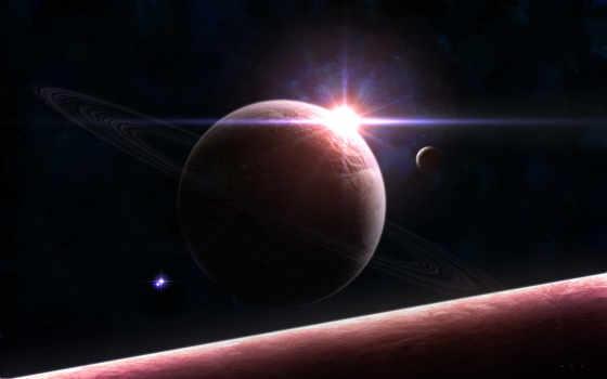 восход, космос, planet, earth, cosmos, planets,