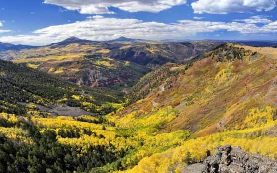 осень, early, долина,