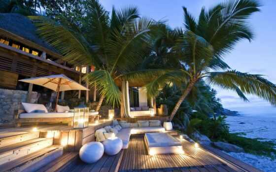 море, house, best, уж, palm, интерьер, loaded, диван