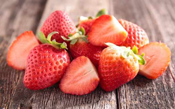 cover, клубника, ягода, доска, red, meal, fresh, wood