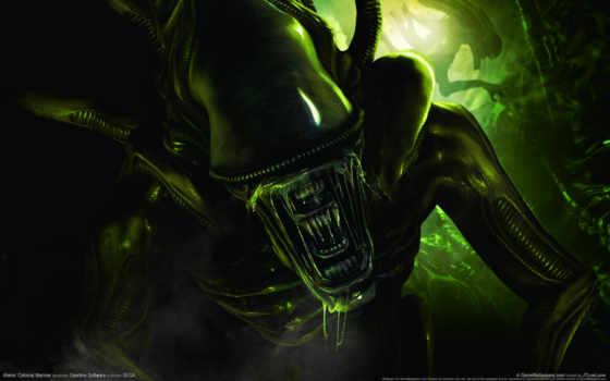 чужой, filmi, alien, атака, страх, art, digital, aliens, index, fondos, event,