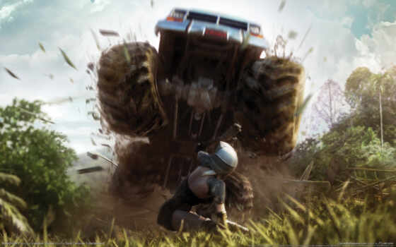 motorstorm, pacific, rift, fear, grass, people, graphics, cars,