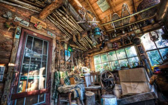 вещи, cabin, комната, бардак, art, works, lodge,