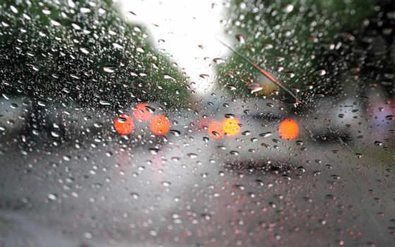 дождь, капли, glass