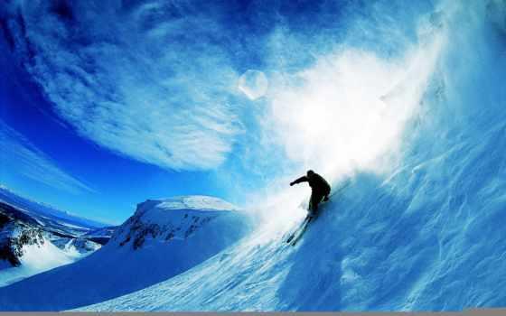 skiing, снег, sports