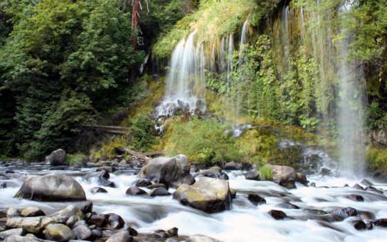камни, берегу, природа, je, ноутбук, national, водопады, скачиваний, park,