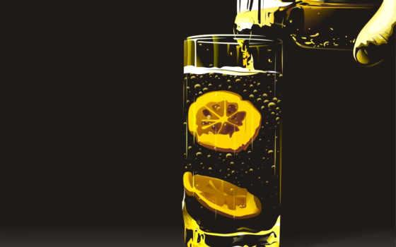 windows, телефон, glass, lemon, разные, два, разных, дольками, лимона,