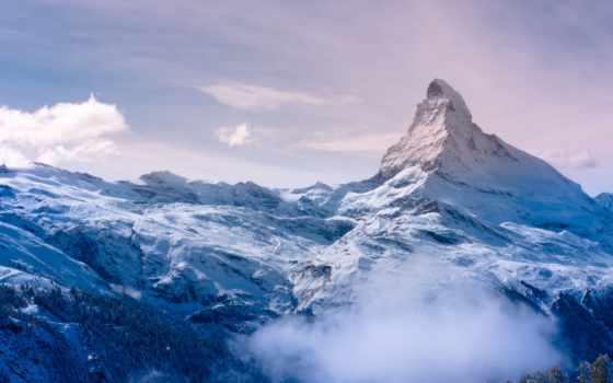 гора, маттерхорн, снег, фотографий, снежная, desktop, горы,