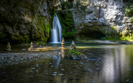 zen, garden, waterfalls, gardens, wallpapersafari,