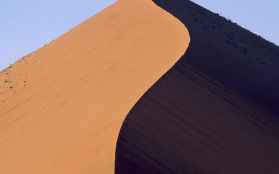 песок, dir, пустыня, гора, снег
