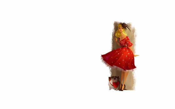 платье, прическа