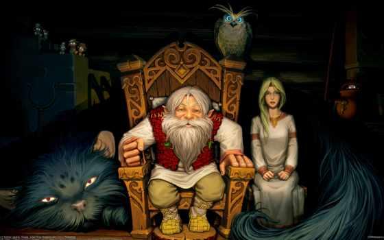 сказ, фольклор, внучка, кот, домовые, лесовик, сова, изьба,
