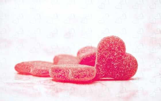 сахар, мармелад, сердечки