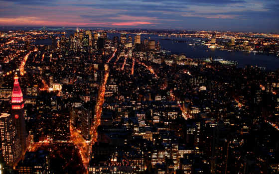 города, огни, город