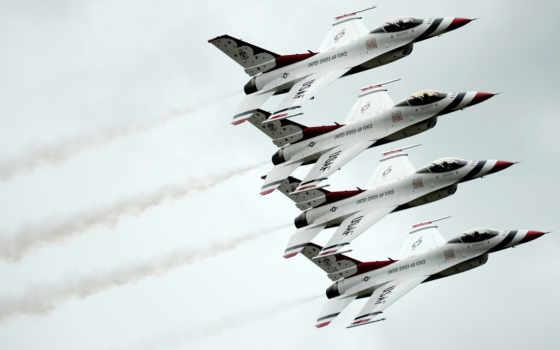 авиация, thunderbirds, бесплатные, истребитель, usaf, air, fighting, falcon, dynamics, группа,