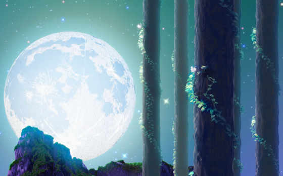 luna, bez, полная
