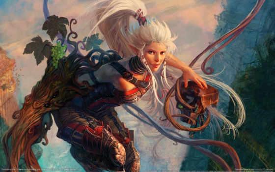 art, белыми, волосами, волосы, подборка, арта, эльфийка, лилиеt, белые, fantasy, попа,
