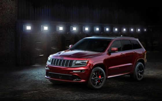jeep, cherokee, grand, srt, ночь, red, издание,