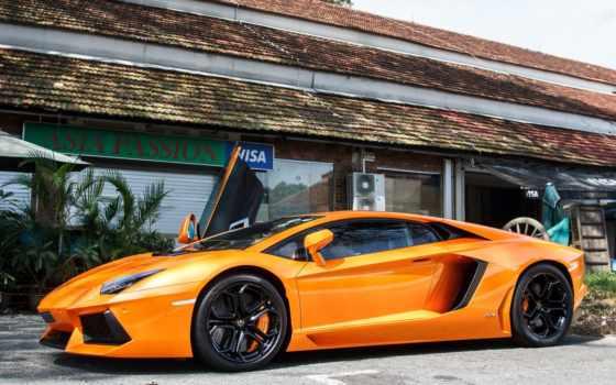 ultra, cars, lamborghini, desktop, car, оранжевый,