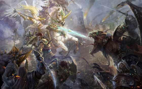 битва, art, монстры, spear, angel, оружие, хостинг, impact, собаки,