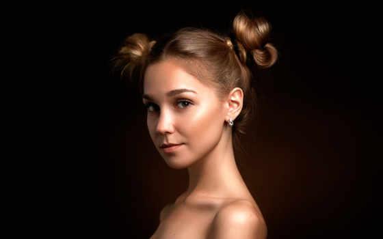 portrait, картинка, девушка, eyed, браун, art, devushki, studio, gladkov,