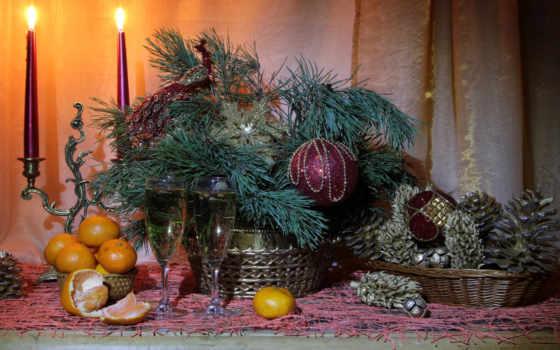 christmas, full, фон, свечи,