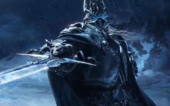 король, лич, warcraft, артас, меч, игры,