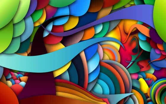 цвет, линии, свет