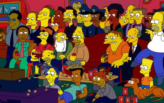 симпсонов, share, characters, simpson, springfield,
