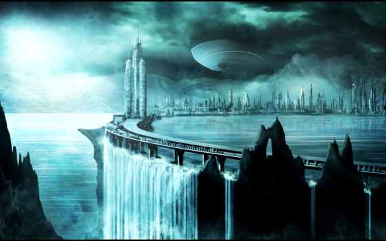 будущее, фэнтези, город
