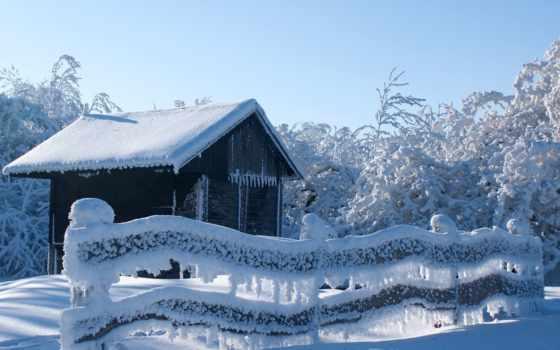 winter, снег, trees, природа, lodge, лес, шпалери, компьютер, небо, фотографий, iphone,