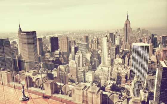york, new, нью, город, небоскрёб, сша, небо,