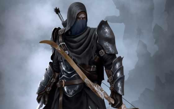 archer, воин, лук, стрелы, капюшон, убийца, shadow, archeage, приключенец, война,